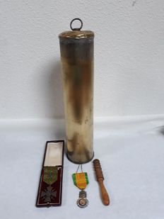 Lot of 4 accessories of the war 1914-1918