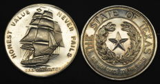 United States - Commemorative Medals Sail, Texas 1986 (2 medals ) - 2 x 1 oz silver