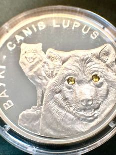 Belarus - 20 Rouble 2007 'Canis Lupus' - 1 oz silver