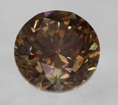 0.55 ct, VS2, Natural Fancy Vivid Brown, 4.95 x 4.93 x 3.35 mm, * low reserve *