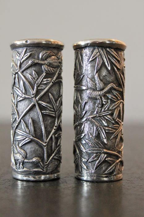 Sterling silver matchstick holders, late 19th / early 20th ...