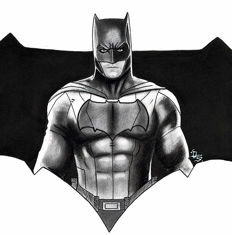 Batman by Diego Septiembre - Original Charcoal And Graphite Drawing