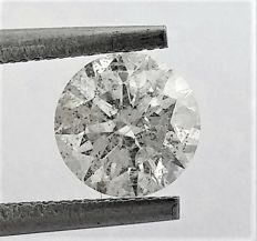 Diamond of  1.24 carat , F color , SI1 clarity , Big AIG certificate + Laser Inscription on Girdle , 3 x EX.