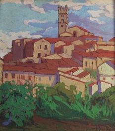 Fauvist School of the early 20th - Paysage du sud de la France