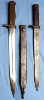 Pair of Original WW1 Imperial German Ersatz Bayonets