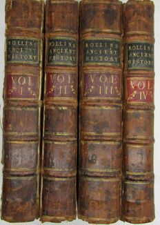 Charles Rollin - The Ancient History of the Egyptians, Carthaginians, Assyrians, Babylonians, Medes and Persians, Macedonians, and Greeks - 4 volumes - 1734/1735