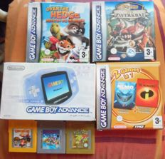 Gameboy advance (Japanese edition) including 6 games like Pokémon gold + Mario Land + Donkey Kong 3 and more