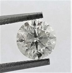 Diamond of  1.32 carat , F color , SI2 clarity , Big AIG certificate + Laser Inscription on Girdle