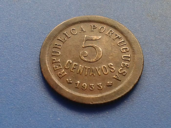 Guinea – Portugal Republic – 5 Centavos – 1933 – Bronze