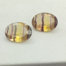 Banded fluorite, 16.97 ct