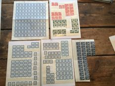 Netherlands - Remainder batch with lots of postage due and airmail stamps