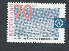 The Netherlands 1984 - Elections for the European Parliament, misprint - NVPH 1300, without yellow print