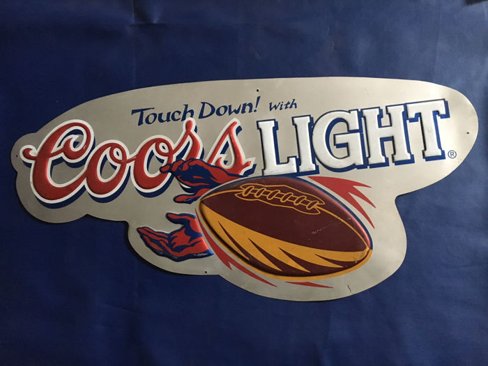 Nice vintage embossed beer sign Coors Light
