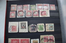 Germany 1870/1960 - Cancellations and postal stationery, Collection on stock sheets.