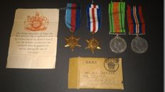 Britiish WW2 Medal Group to Major N L Barber, Royal Artillery-Territorial Army