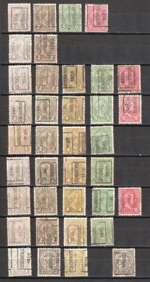Luxembourg 1901/1908 - Collection with precancels