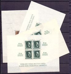 German Empire 1936/1937 - Composition of 4 Blocks - Braune band & Hitler in various types