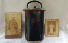 Authentic WWI Austrian Hungarian Enamel Food Canteen Container Military + Photos