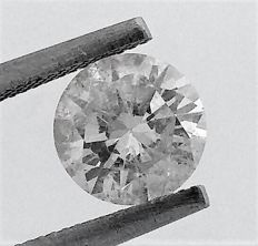 Round Brilliant Cut  - 1.21 carat - E color - SI2 clarity- 3 x EX - Comes With AIG Certificate + Laser Inscription On Girdle