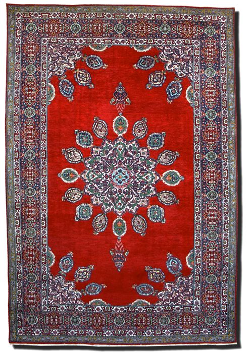 Hand-knotted India Agra, 202 x 141 cm, 1935