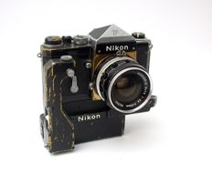 Nikon F set with motor drive and normal prism