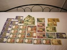 Spain - Lot of 38 Spanish banknotes