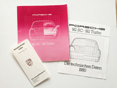 1980 Porsche 911 SC & Turbo brochure with tech-sheet and price list