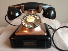 Old copper Bell telephone 1948