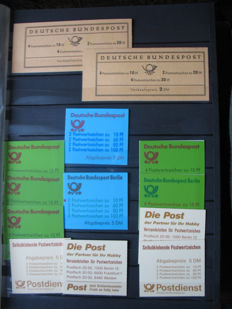 Stamp booklet collection, Federal Republic of Germany and GDR of East Germany in thick album