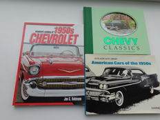 3 books on American cars from the 1950s