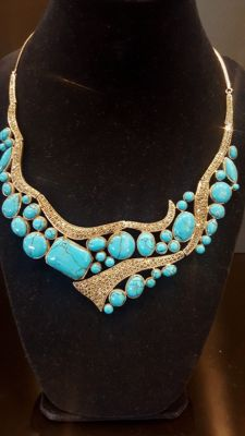 Beautiful 925 sterling silver Necklace with Turquoise
