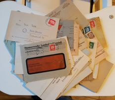 58 documents (letters, cards, military post),and over 200 postage stamps,