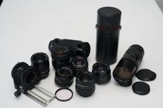 Sale of various zoom lenses with different mounts