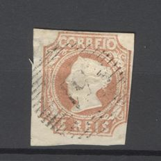 Portugal 1853 - D. Maria 5 travel brown imperforated - Michel 1
