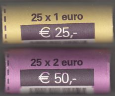 Luxembourg - 1 and 2 Euros 2009 in complete original rolls
