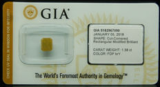 1.38ct. GIA Certified Natural Fancy Deep Brownish Yellow, Even Diamond - NO RESERVE
