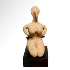 Neolithic Near Eastern Terracotta Female Fertility Figure, 8 cm H