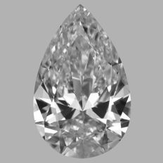 Pear Shape  0.71ct   D IF  GIA- original image -10x #995