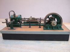 A model with a horizontal steam engine with single cylinder - Holland - 2nd half of last century