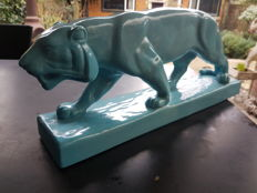 Nice ceramic panther in cubist style