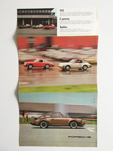 1976 Porsche brochure for 911 2.7S / 3.0 Turbo / 912E