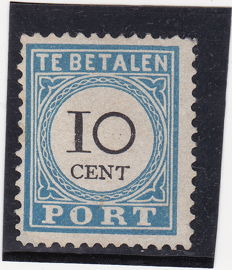 The Netherlands 1887 - Postage due number and value black - NVPH 7B type IV