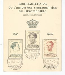 Luxembourg 1939/1946 – Selection of commemorative cards
