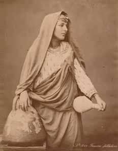 C. & G. Zangaki (active from 1880 to 1915) - Portrait of a fellah woman (peasant) from Cairo, Egypt