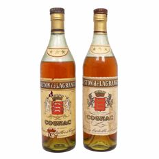 Gaston de Lagrange Cognac three star grade - old bottling - 2 bottles