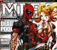 Jamie Tyndall - Limited Edition Poster - Dead Pool & Harley Quinn - MERC Magazine Cover