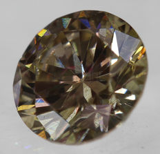0.51 ct, VS1, Brilliant Diamond, VG/VG/VG, F. Intense Brown, 5.08 x 5.05 x 3.17 mm