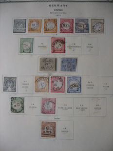 German Reich 1872-45 collection on old sheets and German Reich 1933-45 duplicate stamps in 2 old albums