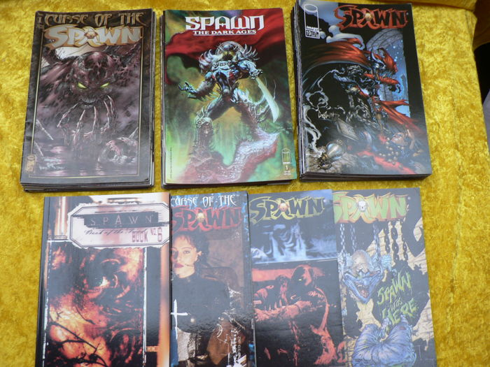 Collection of Image Comics - Spawn - X50 sc - including : Curse of the Spawn, The Dark Ages, Spawn + More