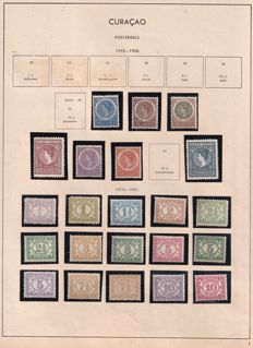 Curaçao 1903/1931- collection of postage stamps on old album sheets